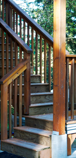 Exterior stair case